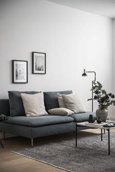 Paravan de sticlă, living și dormitor în aceeași cameră într-o garsonieră de 50 m² Jurnal de design interior