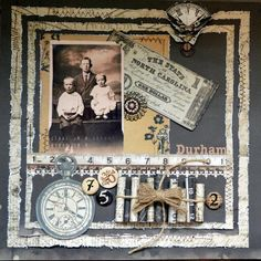 Unknown Memories Unknown Memories…wonderful masculine page featuring great framing and stitched borders. Heritage Scrapbook Pages, Vintage Scrapbook, Scrapbook Page Layouts, Scrapbook Albums, Scrapbook Cards, Scrapbook Templates, Scrapbooking Ideas, Altered Books, Altered Art