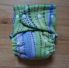 Natural Violet: Hybrid one size fitted diaper with tutorial using os Rocket Bottom pattern