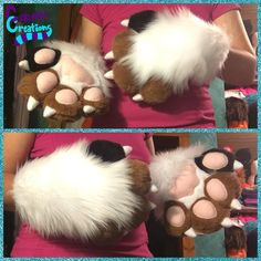 Toony paws finished for Hungry! :) ❤️ #Fursuit #fursuitpaws #fursuiting #furry #furries