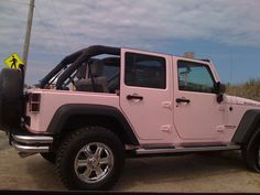 pink jeep...so my husband wouldn't try to steal it to drive! It would be all mine.....insert evil laugh here :)