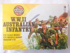 ★ 1977 VINTAGE 1/32 AIRFIX 51558 AUSTRALIAN INFANTRY MODEL TOY SOLDIERS WWII WW2 #Airfix