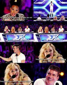 funny, demi lovato and x factor image on We Heart It Demi Lovato Nick Jonas, Celebrity Memes, Simon Cowell, Christina Aguilera, Celebs, Celebrities, The Girl Who, My Idol, We Heart It