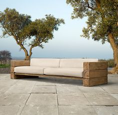 sofa selber bauen anleitung möbel selber bauen sofa aus palette sofa aus holz sofa itself build instruction furniture build yourself sofa from pallet sofa made of wood build Outdoor Couch, Diy Outdoor Furniture, Outdoor Seating, Pallet Furniture, Outdoor Spaces, Outdoor Living, Outdoor Decor, Furniture Ideas, Pallet Sofa