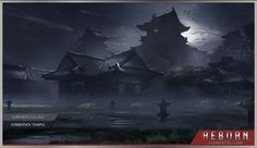 Forsaken Village in the Forbidden Temple.  Concept environment from the video game REBORN by Elemental-Labs, Inc.
