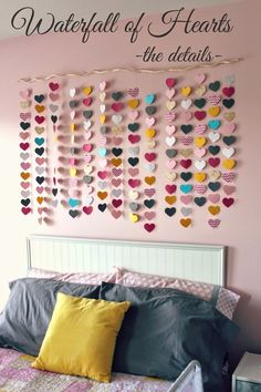 all things DIY: the waterfall of hearts.- do with butterflies?