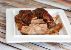 Easy Baked Barbecued Country-Style Pork Ribs-- A good lazy weeknight dinner! I'm serving it with baked rosemary potato wedges