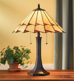 Copper-Foiled Stained Glass Tiffany Lamp