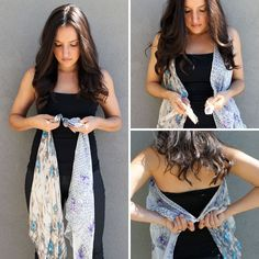 Ten ways to turn scarves into vests! Both sew and no-sew varieties are represented. I like the purple loop