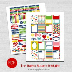 Free planner stickers printable for personal use only.