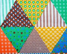 Vintage cotton fabric from the 1970s