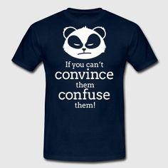 angry panda Männer T-Shirt - Schwarz