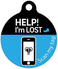 Platinum Pets Lost and Found Large Scannable Pet ID Recovery Tag in Sapphire Blue *** See this great product.