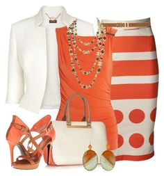 A fashion look from April 2016 featuring mandarin-collar shirts, cropped jacket and patterned skirts. Browse and shop related looks. Diva Fashion, Look Fashion, Womens Fashion, Capsule Wardrobe Women, Posh Dresses, Church Fashion, Look Vintage, Fashion Essentials, Unique Fashion