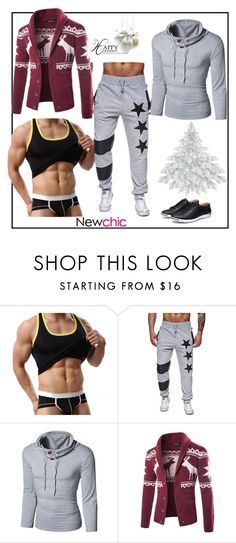 """""""Newchic45"""" by merisa-imsirovic ❤ liked on Polyvore featuring men's fashion and menswear"""