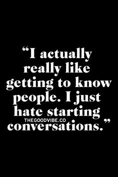 But if you'll come start the conversation, I promise that I'll do my part! Being an introvert is difficult...