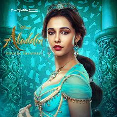 """Learn about MAC Cosmetic's upcoming Disney """"Aladdin"""" Collection, launching May 2019 in conjunction with the live-action film. Aladdin Film, Watch Aladdin, Naomi Scott, Princess Jasmine Makeup, Disney Princess Jasmine, Princess Makeup, Walt Disney, Disney Films, Disney Live"""