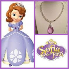 Sofia the First Amulet necklace. $18.00, via Etsy.