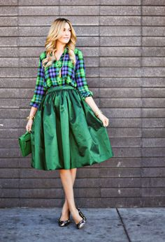 Plaid Full Skirt