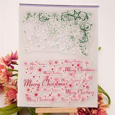 christmas background Transparent Clear Silicone Stamp Seal for DIY scrapbooking photo album wedding gift paper card CC-121