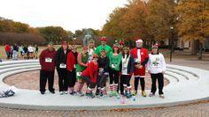 Jingle bell run for arthritis Foundation 2013. Santa and elves costumes