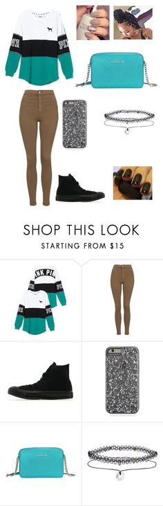 """""""Untitled #213"""" by styling-profyling ❤ liked on Polyvore featuring Topshop, Converse, Michael Kors, Miss Selfridge, women's clothing, women, female, woman, misses and juniors"""