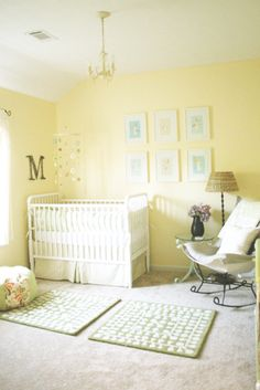 freebie of the month club malone's nursery art is part of Yellow baby room - freebie of the month club malone's nursery art NurseryIdeas Yellow Baby Bedroom, Nursery Room, Room Baby, Light Yellow Walls, Light Green Nursery, Yellow Nursery Decor, Bright Walls, Nursery Neutral, Neutral Nurseries