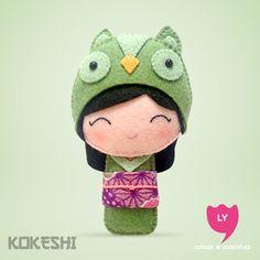 Curiosidade: Kokeshi (boneca em japonês) são bonecas de madeira produzidas artesanalmente. Sua primeira aparição foi em meados do período Edo (1600-1868), para serem vendidas como souvenir aos...