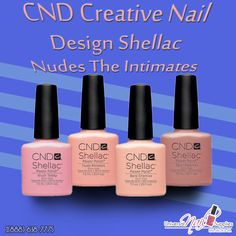 CND Creative Nail Design Shellac Power Nail Polish Nudes The Intimates Collection Set Of 4  The Intimates Collection Includes: 0.25 oz 7.3 mL Each