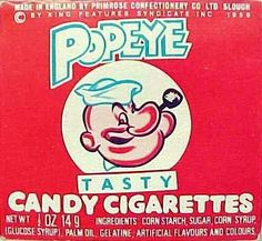 """Popeye the role model says, """"I likes me a smoke afkers my 3way with Olive and her cousin Palm. Ar-Ar-Ar-Ar-Ar!"""""""