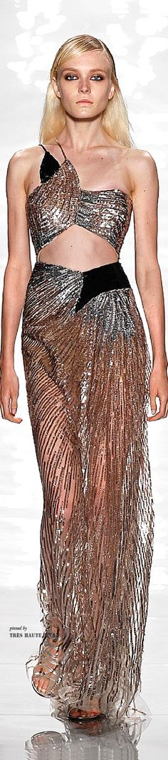 #NYFW Reem Acra Spring/Summer 2015 RTW  On the right person this dress would really be a fashion moment.