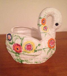 Taste setter by sigma ceramic swan planter by Kristelstreasures, $30.00