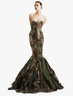 Camouflage wedding dresses are very unique to wear. A camouflage wedding dress is also hard to find. Camouflage Wedding Dresses, Recycled Dress, Recycled Clothing, Camo Dress, Uniform Dress, Army Uniform, Military Uniforms, Shirt Dress, Military Dresses