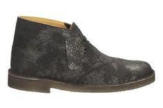 Clarks Desert Boot. - Black Comb Snake - Dameslaarzen Originals | Clarks