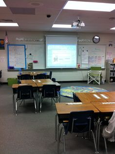 Hanging projectors and wall screen enhance the classroom learning experience and can be purchased with your Boosterthon funds!
