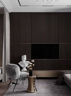 Partition Screen, Console Cabinet, Storage Cabinets, Storage Units, Living Room Designs, Living Rooms, Chair, Luxury, Architecture