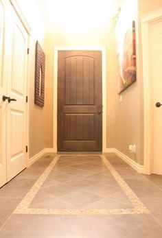 A Matt Inset In A Tile Floor Is A Perfect Way To Delineate Space Especially