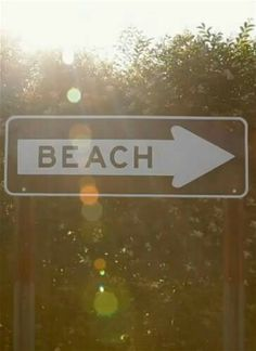 Beach is that way >>> #summer #beach