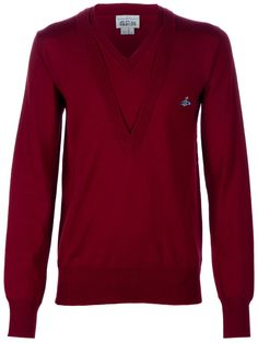 Vivienne Westwood Double V-Neck Knit Sweater