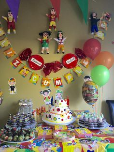 Cake table for Chavo del 8 theme party