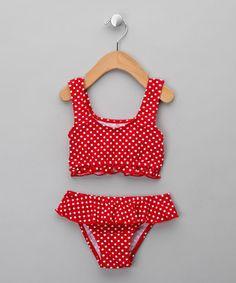 UV Protective Red Polka Dot Bikini - Infant from Playshoes Swim - up to off… Polka Dot Bikini, Polka Dots, Baby Swimsuit, Baby E, Swimsuits, Swimwear, Ava, Body, Kids Fashion