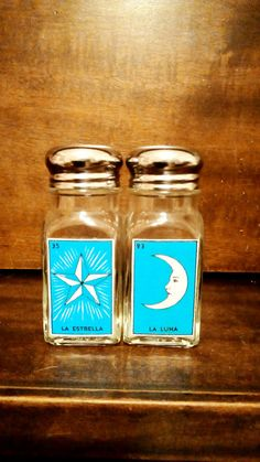 Mexican Loteria Glass Salt and Pepper by Mexichicacreations