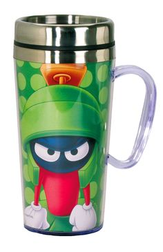 Amazon.com: Looney Tunes Marvin The Martian Insulated Travel Mug, Green: Kitchen & Dining