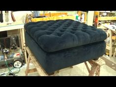 HOW TO REUPHOLSTER A TUFTED HEADBOARD AND INSTALL THE BED FRAME TOGETHER - ALO Upholstery - YouTube