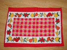 Vintage Handtücher - Geschirrtuch 1x Handtuch Stoff Pril Vintage 70er✿ - ein…
