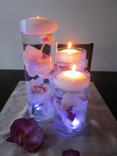 Curiosidades: Preciosos centros de mesa con velas flotantes