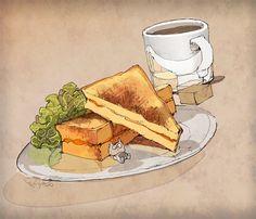 dessin Demizu Posuka mangaka The Promised Neverland. Tokyo Food, Art Addiction, Food Drawing, Food Illustrations, Candy Recipes, Tokyo Japan, Us Foods, Neverland, Drawing Reference