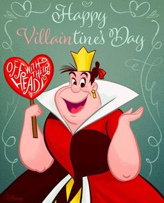 Get to the heart of Villaintine's Day! Alice in Wonderland, February 2018 My Funny Valentine, Disney Valentines, Valentines Art, Vintage Valentines, Arte Disney, Disney Magic, Disney Art, Disney Pixar, Disney Memes