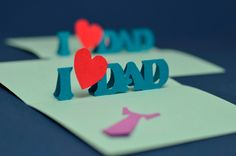 Easy Father's Day Pop Up Card Template | Creative Pop Up Cards