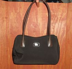 COLE HAAN Brown Nylon & Leather Satchel Tote Handbag #ColeHaan #Satchel  http://stores.ebay.com/The-House-Of-Two-Karat